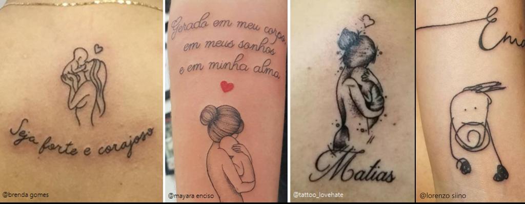 tatuagem de filhos