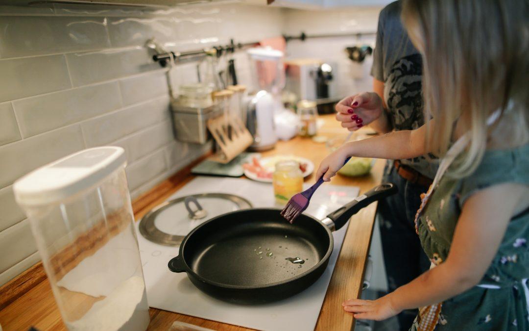 Filhos na cozinha