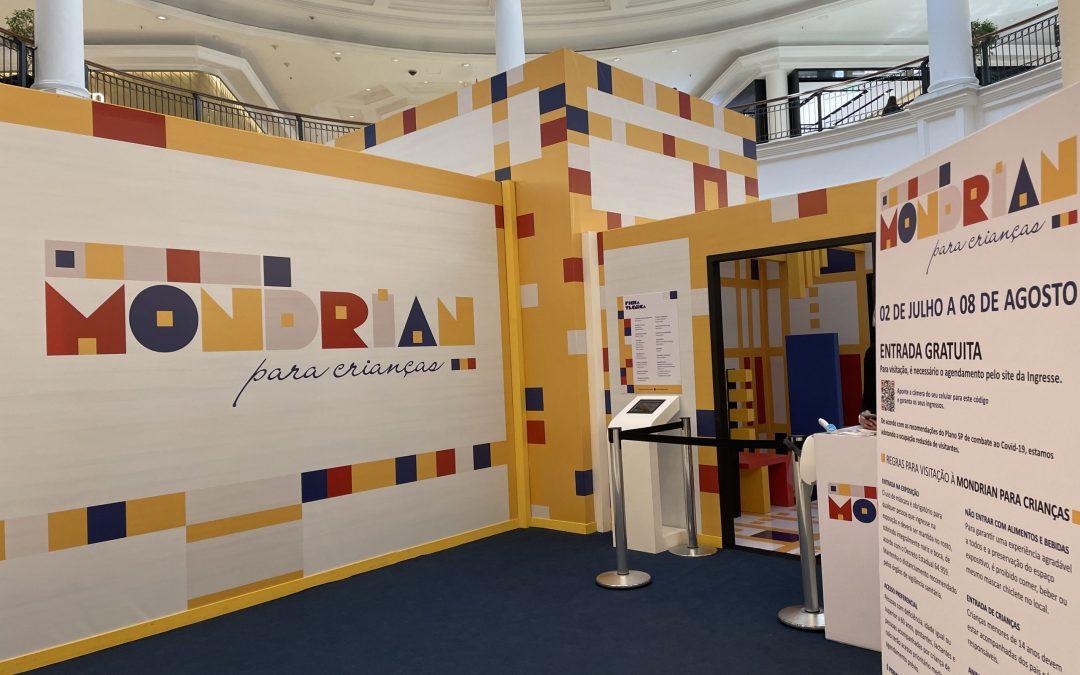 Exposição Mondrian no Shopping Higienópolis